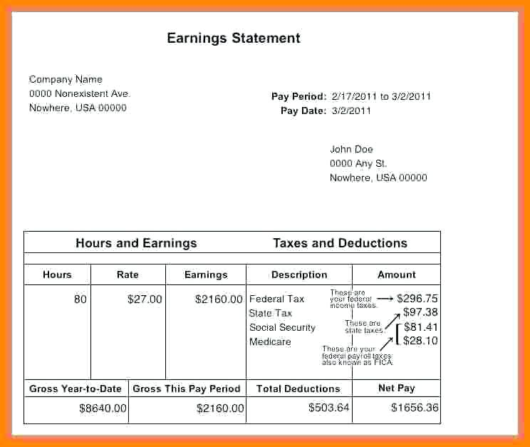 Get To Know More About Free Sample Paycheck Stub Template B